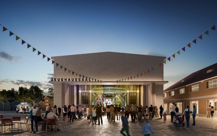 Visualisierung des offenen Stadthofsaals